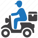 courier, delivery, pizza, shipping icon