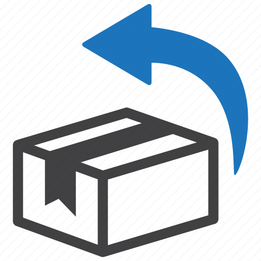 box, delivery, logistics, package, parcel, return, shipping icon