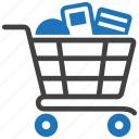 buy, buying, cart, groceries, grocery, shopping icon