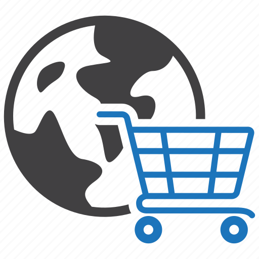 cart, commerce, global, shopping, worldwide icon