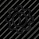 gear, guide, help, info, landing icon