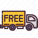 delivery, free, truck icon