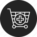 add, cart, shopping icon