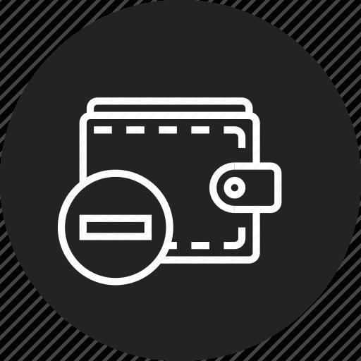 purse, remove, wallet icon