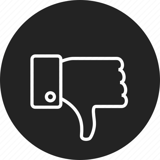 dislike, down, thumb icon