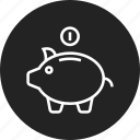 box, budget, deposit, money icon