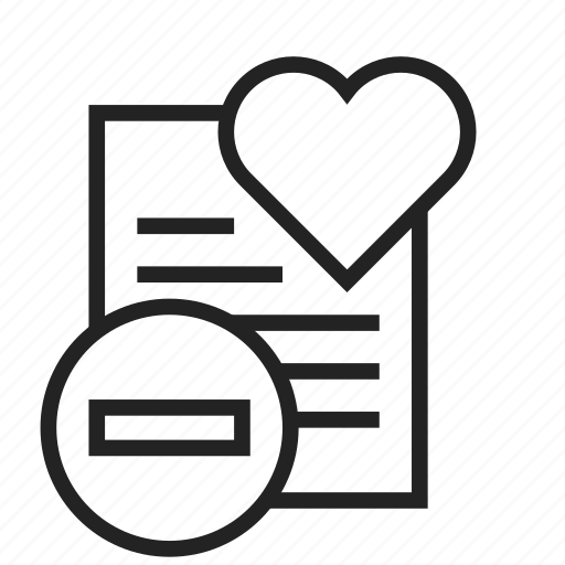 list, remove, wishlist icon