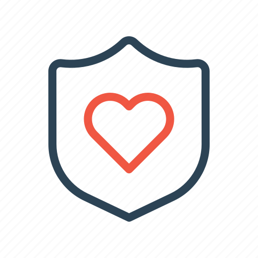 care, insurance, life, love, protection, safety, shield icon