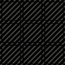 grid, gridiron, net, netting, network, string bag icon