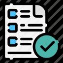 exam, options, manage, checklists