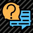 faq, conversation, question, answer