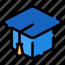 graduate, hat, cap, graduation cap