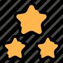 rating, stars, night, star