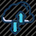 cloud, transfer, arrows, data tranfer