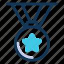 medal, award, winner, badge