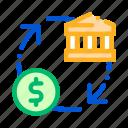 bank, cash, coin, monetisation icon icon