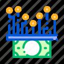 cash, chip, electronic, money icon icon