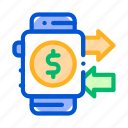 pass, pay, payment, smart, watch icon icon