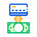 card, cash, money, putting icon icon