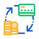 card, money, transaction icon icon
