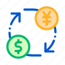 currency, dollar, money, yen icon