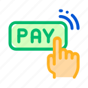 click, one, payment, touch icon icon