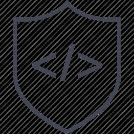 development, online, seo, shield, web icon