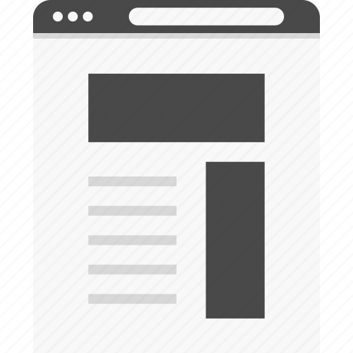 aside, blog, header, right, web, website, wireframes icon