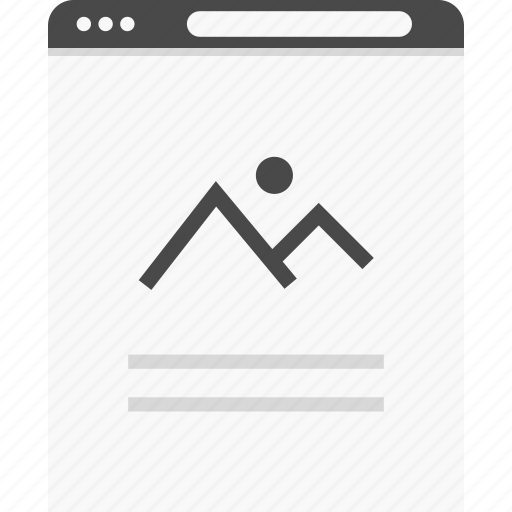 browser, gallery, photo, website, wireframes icon