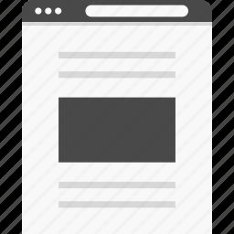 blog, center, photo, website, wireframes icon