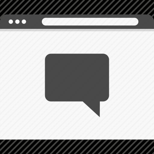 chat, online, talk, website, wireframes icon
