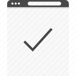 check, good, mark, website, wireframes icon