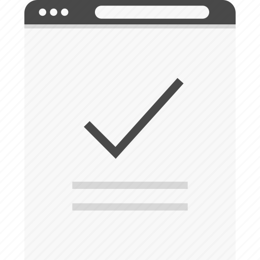 approved, check, good, mark, website, wireframes icon