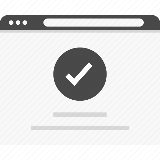 approved, check, description, good, mark, website, wireframes icon