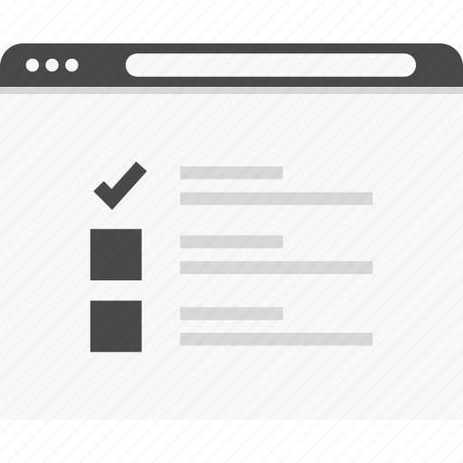 check, list, mark, website, wireframes icon