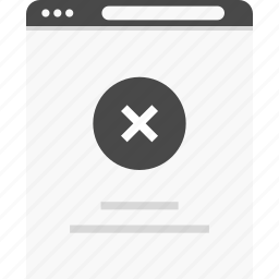 access, clode, denied, no, stop, website, wireframes icon