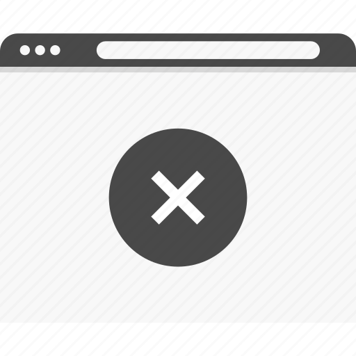 closed, denied, stop, web, website, wireframes icon