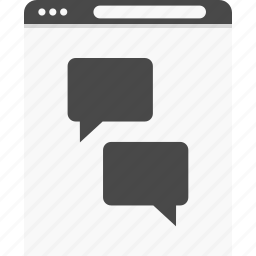 chat, gallery, talk, website, wireframes icon
