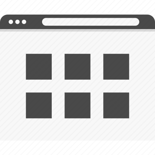 gallery, grid, photo, website, wireframes icon