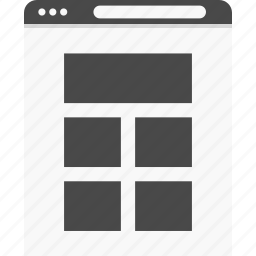 gallery, grids, website, wireframes icon