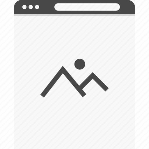 gallery, photo, website, wireframes icon
