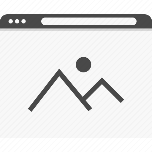 gallery, photo, picture, website, wireframes icon