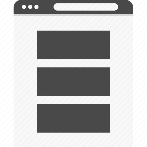 full, gallery, posts, website, wireframes icon