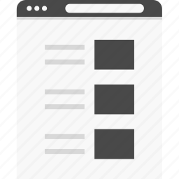 blog, grid, post, website, wireframes icon