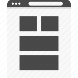 gallery, grid, photos, website, wireframes icon