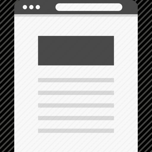 description, header, website, wireframes icon