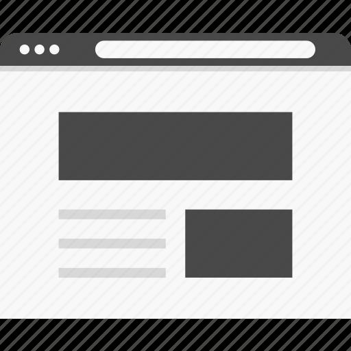 header, layout, website, wireframes icon