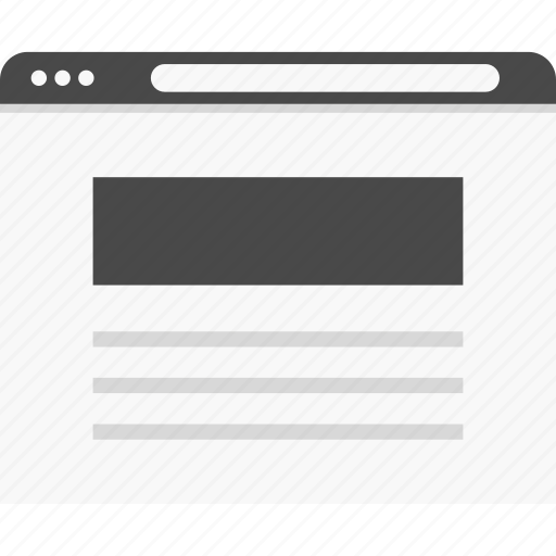 header, top, website, wireframes icon