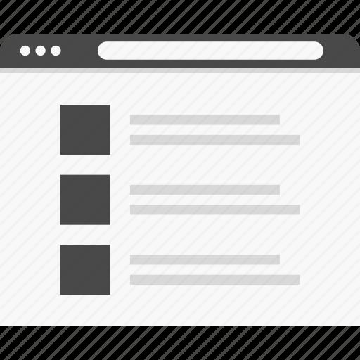 gallery, list, website, wireframes icon