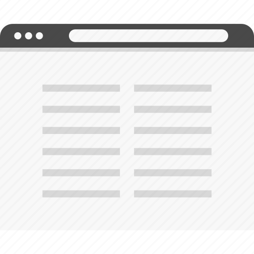 blog, paragraph, web, website, wireframes icon